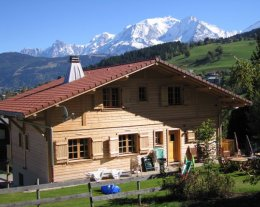 CHALET 4*  DE QUALITE LUXUEUSE VUE MONT BLANC ENTIEREMENT PRIVE