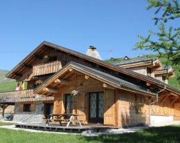 Chalet la Louvière - Grand Loup - 85m2 Duplex (10pers.) -  Skis aux pieds et piscine été