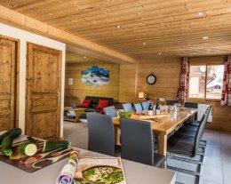 pour 14 pers. - Chalets Lacuzon- au pied des pistes des 3 Vallées avec sauna et jacuzzi