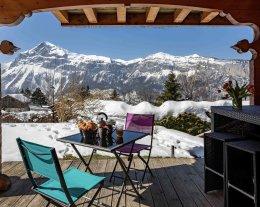 """""""Grand-Massif"""" Charme et confort, chalet avec jacuzzi, sauna, vue, accès rapide aux remontées mécaniques"""