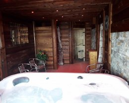 Chalet individuel 6 pers haut de gamme, 3 chambres, terrasse, spa, sauna