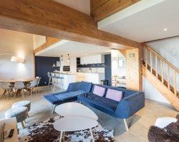 Superbe duplex à Arc 1800 ,vue dégagée, 5 chambres, dans résidence avec piscine, accès skis au pieds