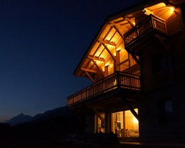 Chalet neuf vue panoramique 8 personnes Samoens
