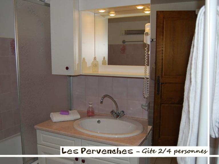 Location appartement en chalet les pervenches charme et authentique la clusaz - Meuble salle de bain avec emplacement machine a laver ...