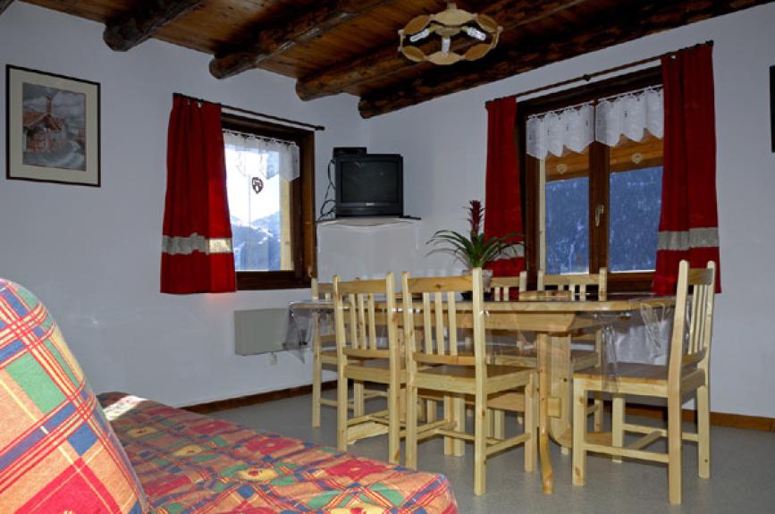 Location appartement en chalet lou soureillaour ceillac for Meubles chalet montagne