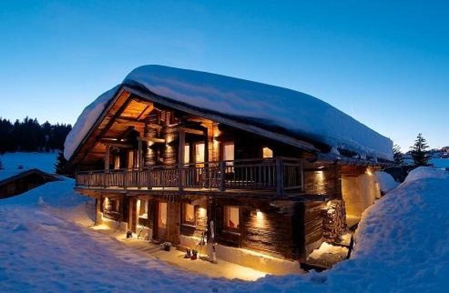Location chalet de luxe chalet le grenier les saisies - Chalet de montagne luxe rkd architecte ...
