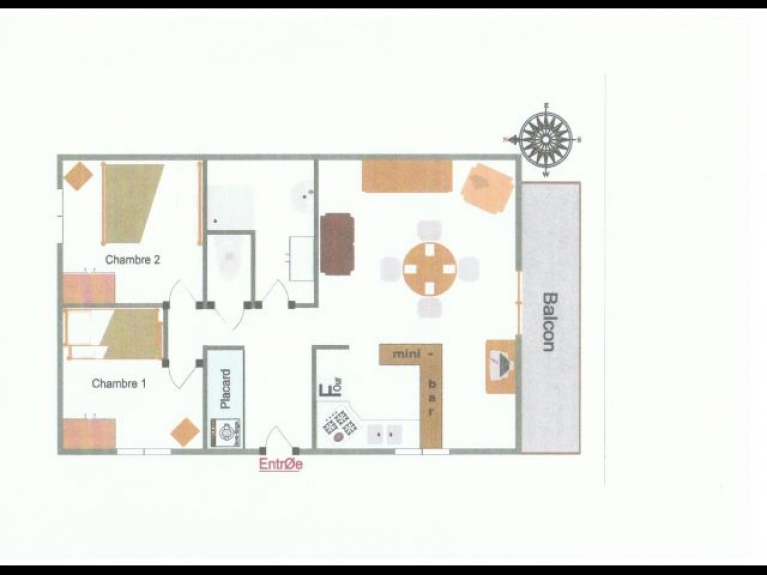 Location appartement en chalet le peouvou1 appartement 3 for Appartement 45m2 design