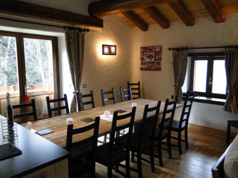 Location chalet individuel chalet plan devin les arcs 1600 for Table de salle a manger grande largeur