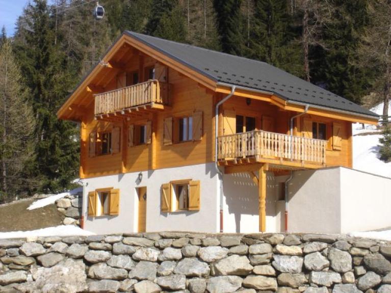 Location chalet individuel chalet l 39 pilobe valfrejus - Dessin de chalet de montagne ...